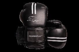 Боксерські рукавиці PowerPlay 3016 16 унцій Чорно-Білий, КОД: 1486925