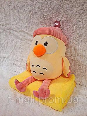 Плед - мягкая игрушка 3 в 1  Цыпленок в розовом (103)
