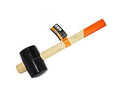 Киянка резиновая с деревянной ручкой Polax 65 мм 450 г Черная 39-005, КОД: 2451135