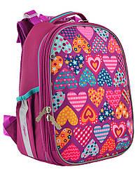 Рюкзак шкільний каркасний 1 Вересня H-25 Heart puzzle Рожевий 556207, КОД: 1247941