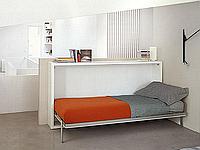 Горизонтальная откидная шкаф-кровать, фото 1
