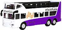 Модель Технопарк Автобус двухэтажный Львов SB-16-21LV, КОД: 2431055