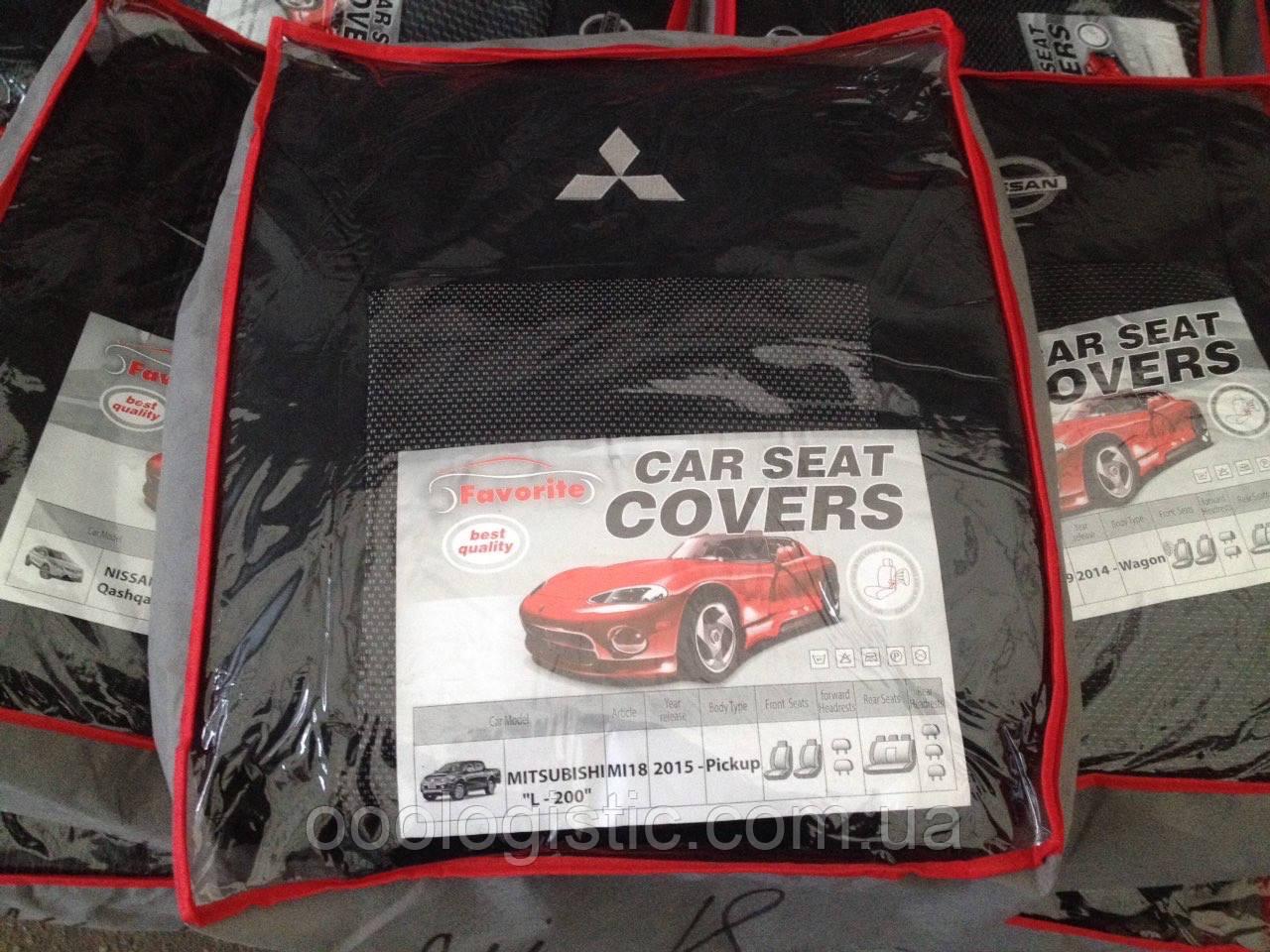 Авточехлы Favorite на Mitsubishi L-200 2015-pickup