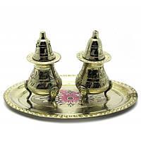 Солонка, перечница Darshan бронза Цветная 44169, КОД: 1367015