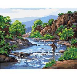 Картина по номерам Идейка Сельский пейзаж 40х50 см Отдых душой KHO2250, КОД: 1318929