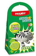 Масса для лепки Paulinda Super Dough Fun4one Зебра подвижные глаза PL-1563, КОД: 2445649