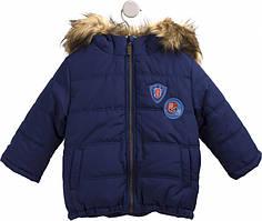 Зимняя куртка Бемби КТ177 134 см Синий 108, КОД: 2408318
