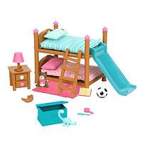 Игровой набор Lil Woodzeez Двухъярусная кровать для детской комнаты 6169Z, КОД: 2428947