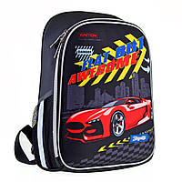 Рюкзак шкільний каркасний 1Вересня H-27 Racing Чорний 557712, КОД: 1247977