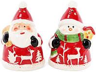 Набор для специй Bona Санта и Снеговик солонка и перечница psgBD-827-809, КОД: 1132396