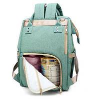 Сумка-рюкзак для мам Baby Bag 5505 Бирюзовый 009780, КОД: 1752625