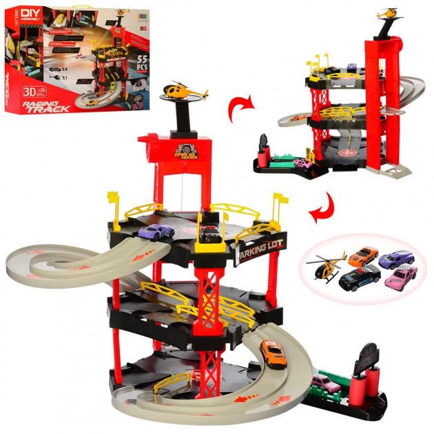 Игровой набор Гараж 8026 BOWA с машинками и вертолетом