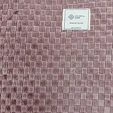 Однотонный плед в клетку 180x200см микрофибра, пледы орнамент искусственные