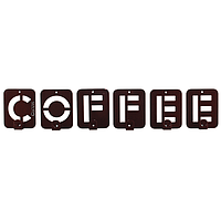 Вешалка настенная Glozis Coffee H-004 50 х 10 см, КОД: 241779