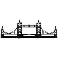 Вешалка настенная Glozis Tower Bridge H-069 50см х 16см H-069, КОД: 1555553