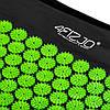 Коврик акупунктурный с валиком 4FIZJO Аппликатор Кузнецова 128 x 48 см 4FJ0048 Black/Green, фото 2