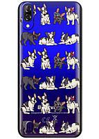 Прозрачный силиконовый чехол iSwag для Blackview A60 с рисунком - Маленькие бульдоги H619, КОД: 1429087