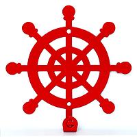 Вешалка настенная Крючок Glozis Wheel H-035 12 х 12 см, КОД: 241744