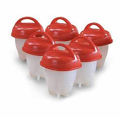 Силіконові формочки для варіння яєць без шкаралупи Egg Boiler 6 штук 300400, КОД: 1716500