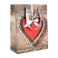 Сумочка подарочная Валентинки Сердечки и дерево Ободок 23х18х10 см 20820, КОД: 1347551