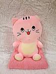 Плед - м'яка іграшка 3 в 1 Котик рожевий (108), фото 3