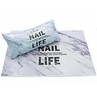 Підлокітник для манікюру з килимком набір Nail Life, код 5661