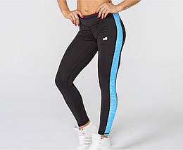 Женские спортивные леггинсы Radical Strokes с синей полосой L r0886, КОД: 1191605