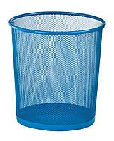 Корзина для бумаг ZiBi круглая металлическая синяя 12 л ZB.3126-02, КОД: 2448149