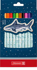Набор Brunnen happy ocean 12 шт толстых цветных карандашей hubiwIT15533, КОД: 1932273