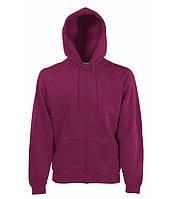 Толстовка Fruit of the Loom Premium hooded sweat jacket XXL Бордовый 062034041XXL, КОД: 1574333