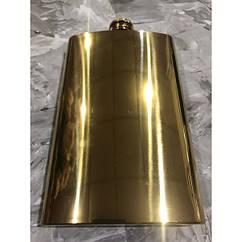 Металлическая фляга на 300 мл под гравировку Золото, КОД: 1364729