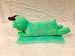Плед - мягкая игрушка 3 в 1  Оленёнок мята (113), фото 3