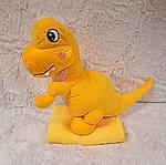 Плед мягкая игрушка 3 в 1  Динозаврик желтый (114), фото 2