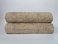 Махровое полотенце для лица бежевое