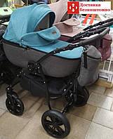 Универсальная коляска 2в1 Victoria Gold Classic Бырюза Лен, фото 1
