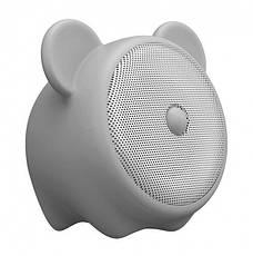 Портативная акустика Baseus Q E06 Zodiac Bluetooth Мышка Светло-серая (NGE06-0G), фото 2