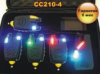 Набор карповых cигнализаторов поклевки Carp Cruiser  CC210-4 (4+1) с беспроводным радио пейджером
