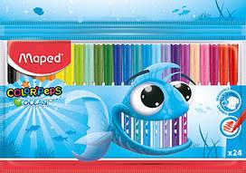 Фломастеры Maped Color Peps Ocean 24 цвета MP.845722, КОД: 2446837
