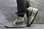 Мужские зимние кроссовки Nike Lunar Force 1 Duckboot (темно-зеленые) 10085, фото 3