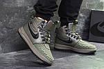 Мужские зимние кроссовки Nike Lunar Force 1 Duckboot (темно-зеленые) 10085, фото 4