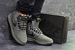 Мужские зимние кроссовки Nike Lunar Force 1 Duckboot (темно-зеленые) 10085, фото 6