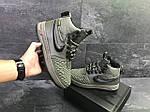 Мужские зимние кроссовки Nike Lunar Force 1 Duckboot (темно-зеленые) 10085, фото 8