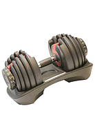 Гантель наборная LiveUp Adjustable Dumbbell 2.3-41 кг Grey LS2315-41, КОД: 2395330