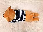 Плед - мягкая игрушка 3 в 1  Медвежонок в синей тельняшке (118), фото 3