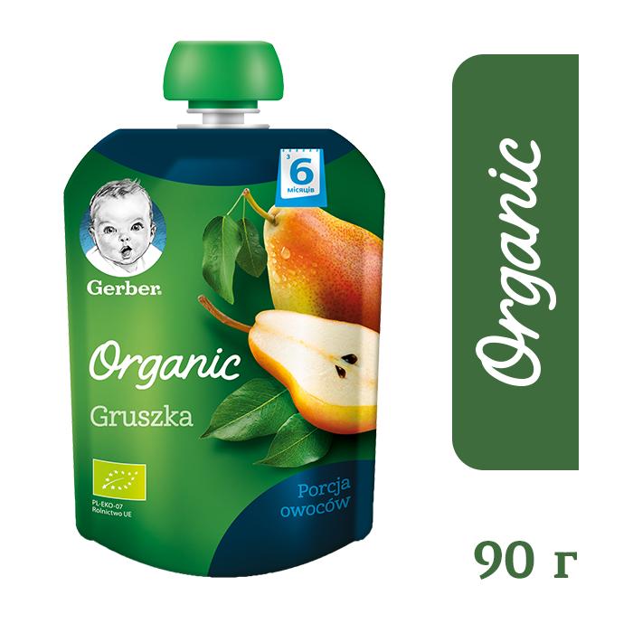 8218_Годен_до_30.04.21 Гербер пюре фруктове «Органічна груша» для дітей з 6 місяців, 90г