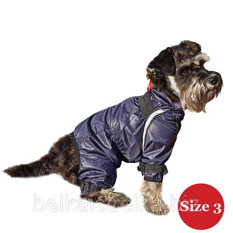 Комбинезон для собак DIEGO Rain M синий баклажан для мальчиков, Размер 3