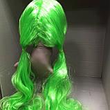 Парик салатовый хвостики длинный 70 см, фото 3