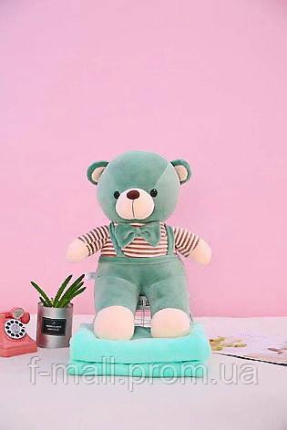 Плед - мягкая игрушка 3 в 1  Медвежонок оливковый (119)