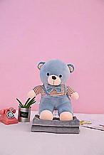 Плед - мягкая игрушка 3 в 1  Медвежонок серый (120)