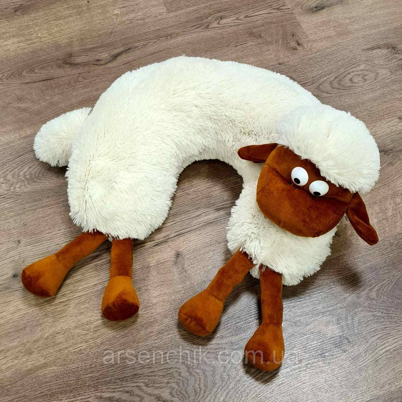 "Іграшка-подушка рогалик травичка ""Баранчик Шон"""